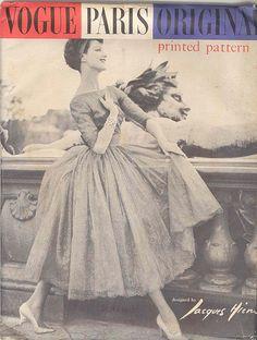 Vogue Paris Original 1391, Jacques Heim, ca 1957; Sz 14/Bust 34