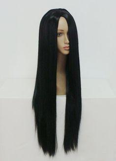 MCOSER Free Shipping High Grade Anime Classical 80cm Long Black Fashion Women Hair Party  Lolita Cosplay Wig