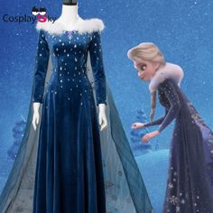 Frozen 2 Olaf's Adventure Princess Elsa Dress with Cloak Cosplay Costume Made Princess Aurora Dress, Princess Dress Kids, Princess Costumes, Costume Dress, Cosplay Costumes, Frozen Elsa Dress, Halloween Dress, Halloween Party, Fancy Dress Outfits