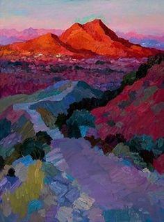 """Larisa Aukon,Trail to the Top by Larisa Aukon Oil ~ 40"""" x 30"""""""