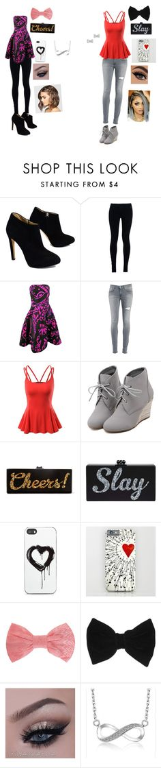 """Untitled #47"" by queenbre101y on Polyvore featuring Giuseppe Zanotti, NIKE, Oscar de la Renta, Dondup, Doublju, WithChic, Edie Parker, Zero Gravity, Missoni and claire's"