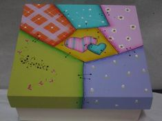 caja 25x20x8 Country Paintings, Country Crafts, Scrap, Gift Wrapping, Diy Crafts, Box, Safe Room, Decoupage, Block Prints