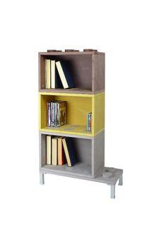 Libreria/scaffale contenitore, modulare, di design.