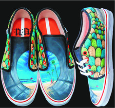 Teens Win National Shoe Design Contest Shoe Designers Make Final 5 One of the entries by Rio Rancho High School in the national Vans Custom Culture Contest