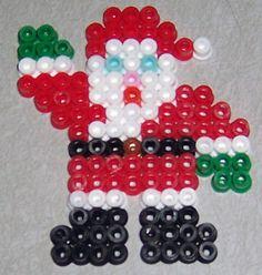 Santa perler beads