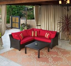 Woodard Domino Salamander Wicker Cushion Patio Lounge Set By 5994 30 This Includes Right