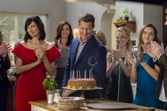 """Good Witch, Season 3 - """"In Sickness and In Health"""" Cassie plans a surprise party for Sam. Does he catch on? We'll find out on Sunday 9/8c! #goodies #hallmarkchannel"""
