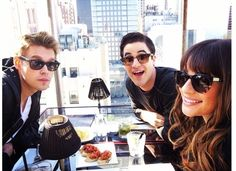chordover: On a rooftop for lunch w my friends @Olivia Ribeiro and @Darren Criss