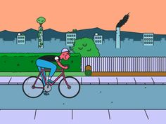 Ride a bike. It's good for you and for your environment. RELATED: Keeping it Green on Two Wheels - Commuter Cycling, Bike Illustration, Cycling Tips, Earth Science, Earth Day, Go Green, Cool Bikes, Cool Pictures, Transportation