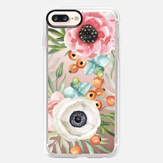 Buy Watercolor flowers and berries iPhone 7 Plus Classic Grip Case by JuliaBadeeva at Casetify. Latest Iphone, New Iphone, Iphone 7 Cases, Iphone 8 Plus, Pink Cotton Candy, Apple Watch Models, Apple Products, Watercolor Flowers