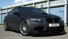 BMW E92 M3 in Matte Black Wrap #cars #midterm