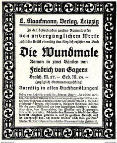 Original-Werbung/ Anzeige 1920 - VON GAGERN: DIE WUNDMALE / STAACKMANN VERLAG LEIPZIG  - Ca. 80 X 110 Mm - Werbung