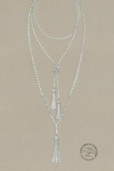 The Great Gatsby (2013)   A Tiffany & Co designer's sketch for a pearl necklace from The Great Gatsby Collection. #partyatgatsby's by AislingH