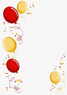 Balloon border PNG and Clipart Happy Birthday Greetings, Birthday Wishes, Birthday Cards, New Year Illustration, Happy Birthday Wallpaper, Happy Children's Day, Birthday Clipart, Birthday Frames, Birthday Background