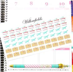 This set will include 60 Airplane travel bundle stickers to track your vacations and Flights!  Sticker measurements: 20 Ticket- 0.650W x 0.415L 20