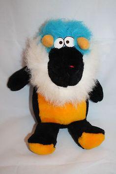 International Toys & Novelties Monster Plush Horns Orange Blue Black Stuffed and