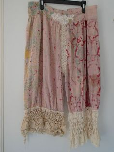 RARE!! Authentic Magnolia Pearl Crochet Tie-Dye Linen Boho Hippie Bloomers | Clothing, Shoes & Accessories, Women's Clothing, Pants | eBay!