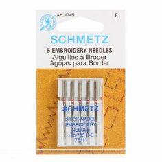 5 Embroidery Machine Needles
