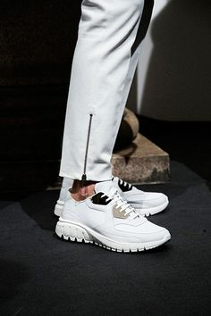 Crisp white trainers backstage at Neil Barrett SS15: http://www.dazeddigital.com/fashion/article/20414/1/neil-barrett-ss15