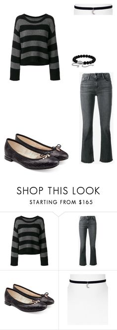 """""""Back in Black #9"""" by femalewarrior205 ❤ liked on Polyvore featuring RtA, Frame, Repetto, Melissa Lovy and David Yurman"""