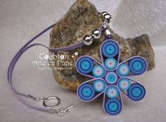 Quilled paper Necklace and earrings set by Cocotonpapel on Etsy, $15.00