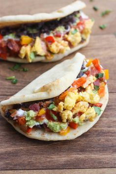 2. Seven Layer Breakfast Tacos #breakfast #tacos http://greatist.com/eat/breakfast-tacos-to-spice-up-your-morning