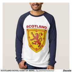 6d4a7b08146 SCOTLAND ROYAL COAT OF ARMS SHIELD T SHIRT Shirt Print Design