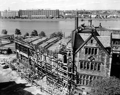 On August 23, 1952, construction was well underway at the original Hillel House site on Bay State Road.