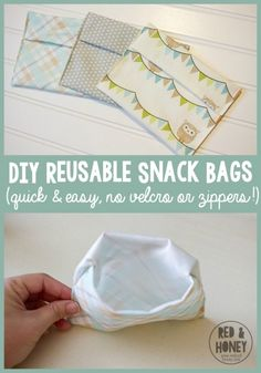 DIY Reusable Snack Bags - R&H main