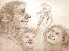 Troll family life by skjon
