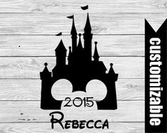 Disney Castle Iron On Transfer Printable Family Vacation Personalized t-shirt Last Name shirt couple matching shirts Disneyland Disneyworld