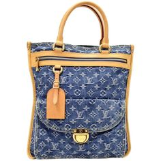 502238e08b65 Louis Vuitton Flat Shopper Blue Monogram Denim Tote Hand Bag - 2006  Limited. Louis Vuitton FlatsFashion HandbagsTote HandbagsTop Handle ...