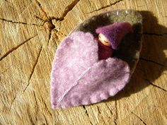 Waldorf Leaf Baby, Baby Peg Doll, Lavender, Pink, Purple & Sage Green, Waldorf Gnome Playset, Leaf/ Heart Sleeping Bag, Upcycled eco toy.  This was no longer available from Mama West Wind.