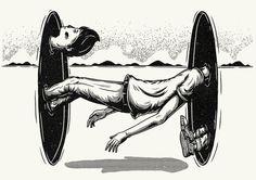 Really cool worm hole illustration. ' Parallèle' Zine. by Christi du Toit, via Behance