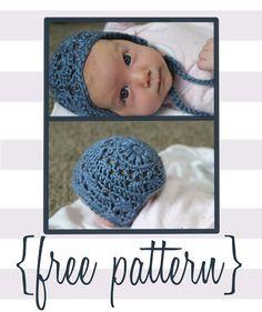 Bloggity Blog: Baby Bonnet Crochet Pattern (free!)