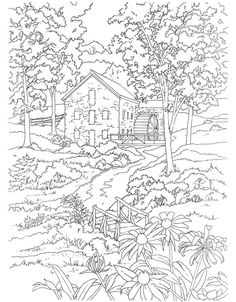mill coloring page... Dover Publications