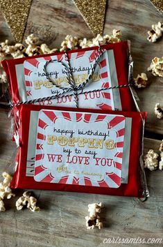 Carissa Miss: Happy Birthday Popcorn Printable