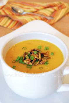 Butternut Squash Soup from www.TheHealthyGFLife.com. paleo, primal, gluten free, grain free, dairy free, egg free, soy free!