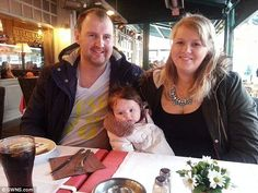 Bryony, pictured with husband Neal and daughter Eva, is now in remission. She wants to share her story as a warning who experience rapid weight gain that it isn't always about diet and exercise
