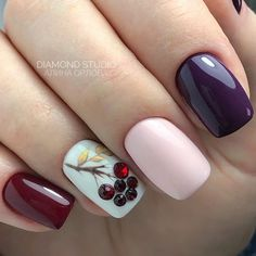 Fashionable Winter Nails Design Make You Feel Warm - chic better Hot Nails, Nude Nails, Hair And Nails, Winter Nail Designs, Nail Art Designs, Nails Design, Nagel Blog, Funky Nails, Nagel Gel
