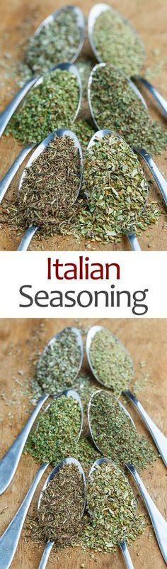 Italian Seasoning Recipe : A quick, easy and tasty Italian seasoning blend or spice mix! Homemade Spices, Homemade Seasonings, Homemade Recipe, Recipe Tips, Seasoning Mixes, Italian Seasoning, Seafood Seasoning, Seasoning Recipe, Sausage Seasoning