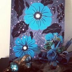 """BLUE GLORY "" A Blue Angel painting"