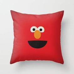 Sesame Street Character Elmo Minimalist Pillow by www.etsy.com/shop/TheRetroInc