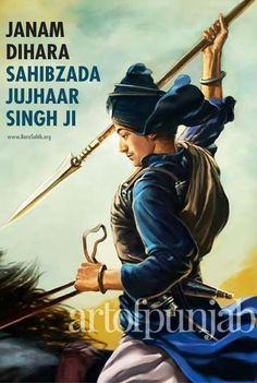 Baba Jujhar Singh – Art of Punjab: Official Site Guru Nanak Ji, Nanak Dev Ji, Avengers Painting, Guru Gobind Singh, Punjabi Culture, Religious Text, Indian Gods, Religion, Wonder Woman