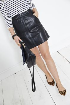 """""""It's a fact; black and blue do go together. And they go even better when they're suede and leather. This dream bag fits everything you need and can be worn with or without the strap for two very different looks… Think little satchel bag or cross body bag. Two bags in one!"""" Sarah, the Boden Stylist. #NewBritish"""