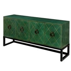 Credenza in Hand-Tooled Leather by Tommi Parzinger | From a unique collection of antique and modern credenzas at http://www.1stdibs.com/furniture/storage-case-pieces/credenzas/