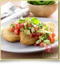 Chicken Schnitzels, Avocado, Tomato & Coriander Salsa | What2Cook