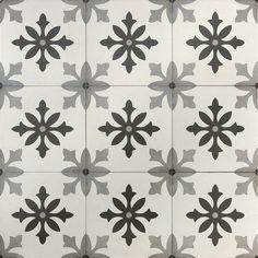 Ivy Hill Tile Anabella PiBlano 9 in. x 9 in. x Matte Porcelain Floor and Wall Tile sq. / - The Home Depot Outdoor Flooring, Outdoor Walls, Shower Floor, Tile Floor, Scandinavian Tile, Patchwork Tiles, Splashback Tiles, Mediterranean Design, Encaustic Tile