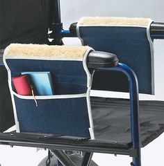 Fleece Wheelchair Armrest Pouches :: armrest bag for wheelchairs provide convenient storage and added comfort for wheelchair users.