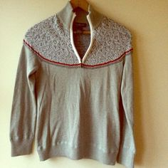 Eddie Bauer 1/4 Zip Fairisle Sweater This is a cozy sweater with a 1/4 zip front in a beautiful Fairisle pattern. Bought with tags on but took them off. NO TRADES OR HOLDS Eddie Bauer Sweaters Crew & Scoop Necks